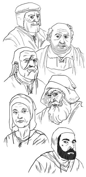 Alvard, Gunnar, Rufus, Berne, Jellen e Brenon